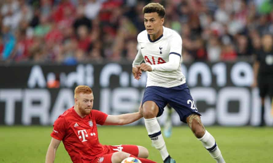 Dele Alli in action against Bayern Munich last week but he will now miss the start of the season.