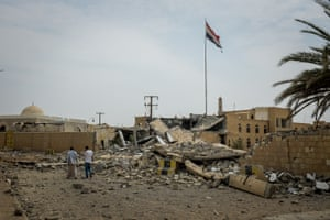 Sa'ada's central government ministry building, destroyed by airstrikes
