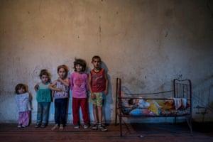 Six children in the village of Nor Erkedj, Nagorno-Karabakh.