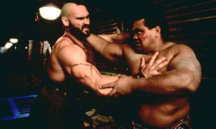 Andrew Bryniarski as Zangief and Peter 'Navy' Tuiasosopo as Honda in Street Fighter: The Movie.