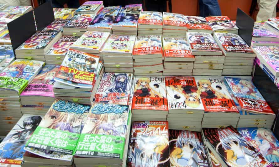 A Manga book shop in Tokyo.