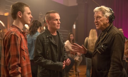 David Lynch directs Jake Wardle and James Marshall in the new series