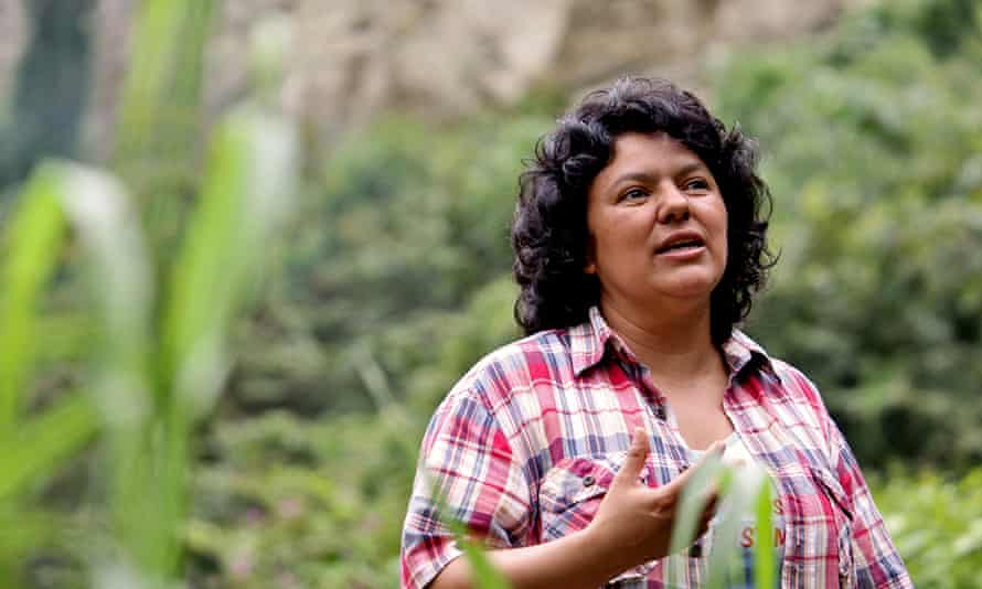 Berta Cáceres campaigned to preserve her people's environment, threatened by a hydroelectric project.