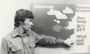 Francis Wilson presenting the weather on Thames TV.