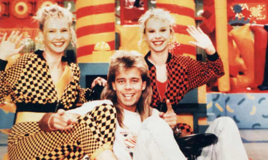 Pat Sharp with Melanie and Martina Grant in their 90s heyday.