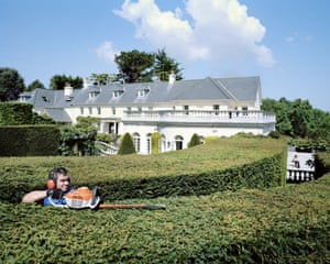From THE HEAVENS, ANNUAL REPORT series. Hedge strimming in Jersey