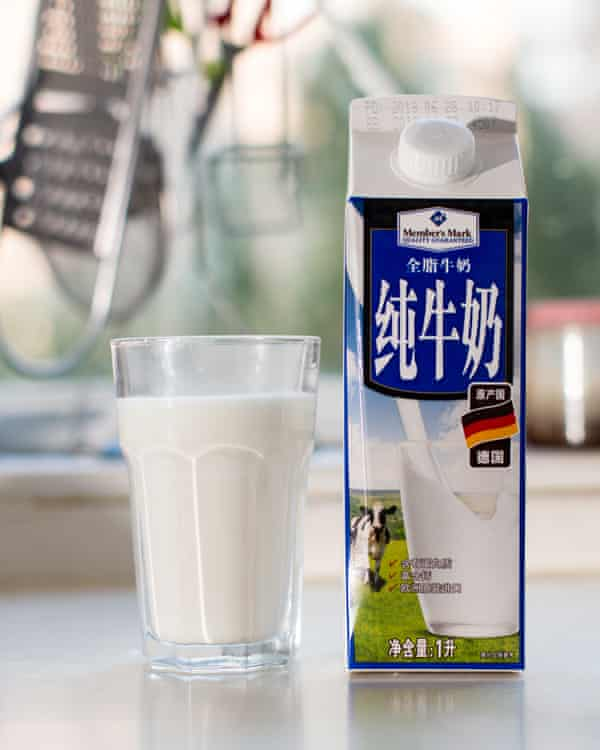 A carton of German milk imported to China.