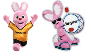 Duracell and Energizer battery bunnies