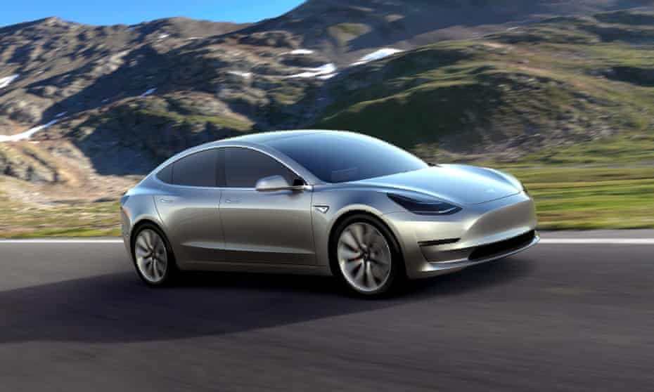 The Tesla Model 3, slated to start production later this year.