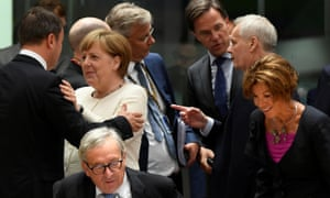 A summit of EU leaders in Brussels today.