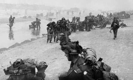 British troops on Sword beach during D-day, 6 June, 1944.