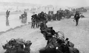 British troops on Sword beach in Normandy on D-Day.