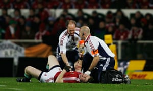 Brian O'Driscoll's injury in a spear tackle set the tone for a punishing tour for the Lions.