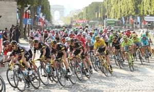 Survival of the fittest ... the last stage of the 2016 tour, in Paris. Photograph: Jean Catuffe/Getty Images