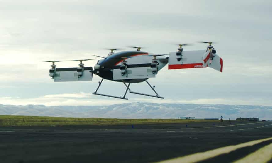 the airbus vahana takes off