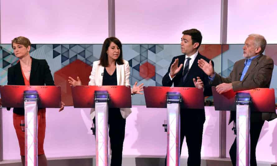 Labour leadership contenders (from left) Yvette Cooper, Liz Kendall, Andy Burnham and Jeremy Corbyn during a hustings debate on BBC1's Sunday Politics. on 19 July.