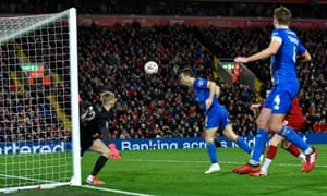 Shaun Whalley heads the ball into the net to send Shrewsbury into delirium before VAR ruled out the goal for offside.