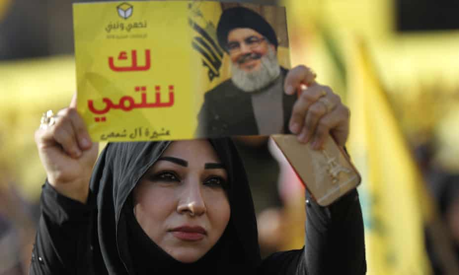 A supporter of Hezbollah