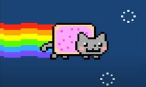 Nyan Cat from YouTube - illustration for cryptoart