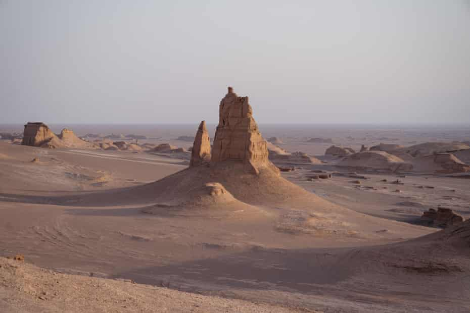 The Lut Desert, the hottest place on earth.