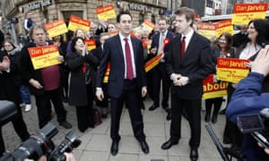 Campaigning with Ed Miliband in the 2011 Barnsley Central byelection.