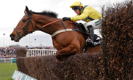Lostintranslation, ridden by Robbie Power, to victory at Aintree last year.