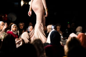 A model on the runway during the Mod Markit show
