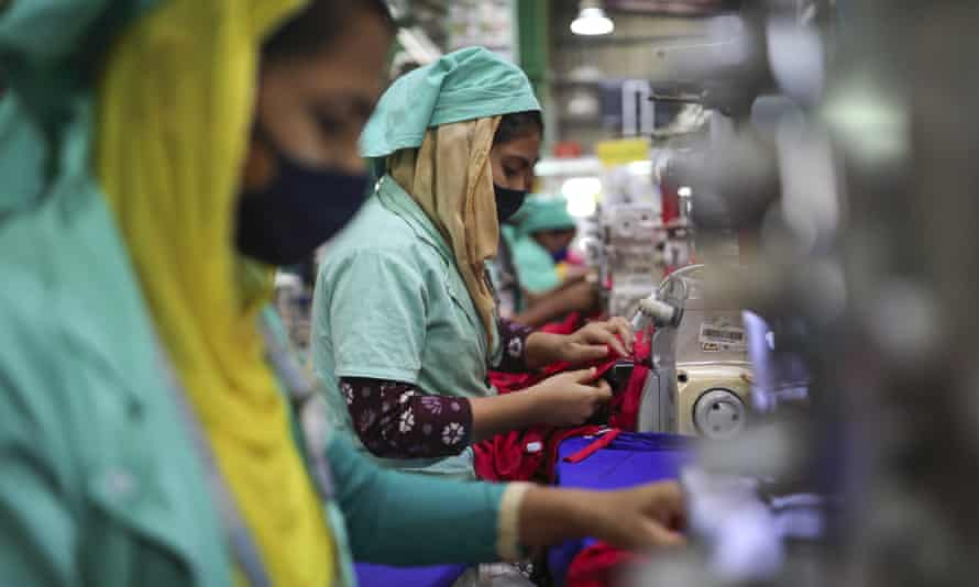 Garment workers in Gazipur. More than 200 brands signed up to the Bangladesh accord after the 2013 collapse of the Rana Plaza building.