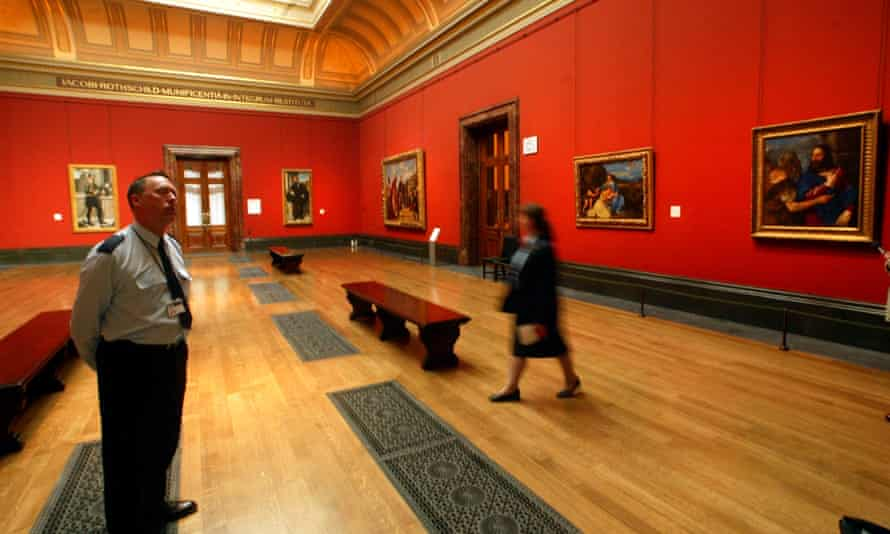 The east wing of the National Gallery, London