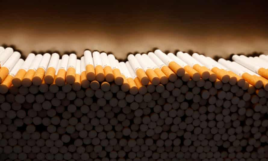 cigarettes being made in a factory