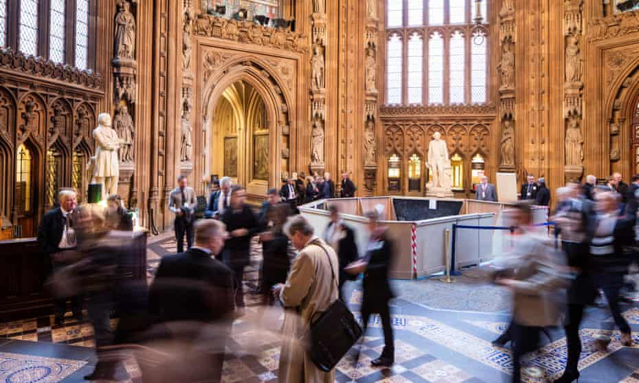 The Central Lobby of the Houses of Parliament