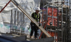 Building site worker in London