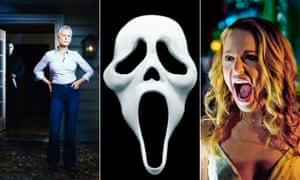 Jamie Lee Curtis returning in a Halloween reboot, the Scream mask and Jessica Rothe in Happy Death Day.