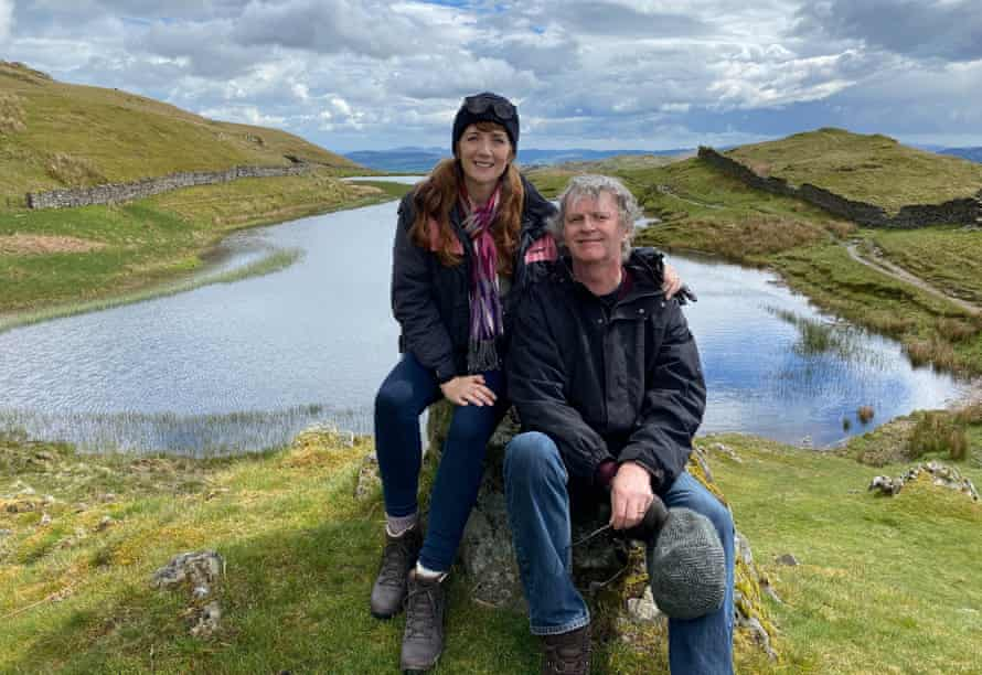 Suki Webster and Paul Merton in the Lake District.