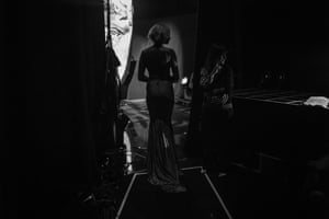 Alesha Dixon waiting in the wings before presenting an award