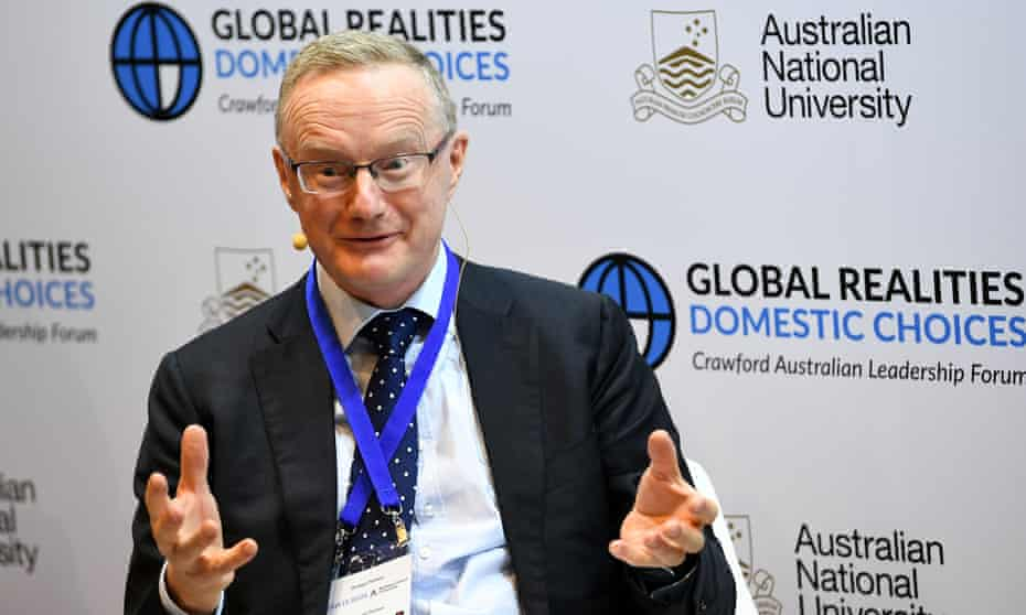 Philip Lowe at the ANU on Monday. Unemployment wasn't as bad as people thought, he said, but the real problem was wage growth.