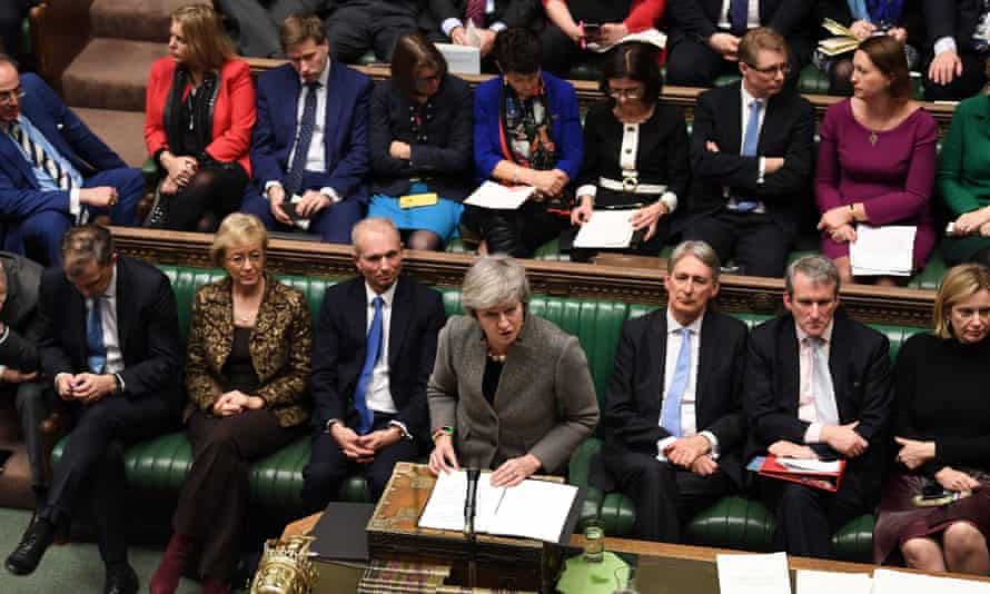 British prime minister, Theresa May, in the House of Commons, London.
