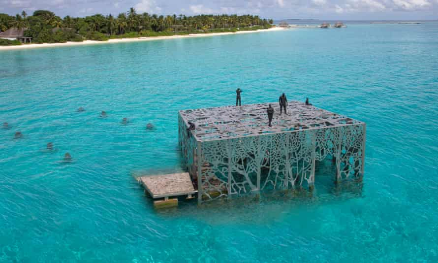 Jason deCaires Taylor's latest project, the Coralarium, was demolished last week.