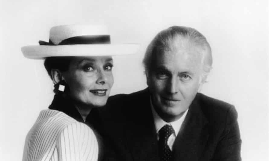 Hubert de Givenchy with Audrey Hepburn in the mid-1980s.