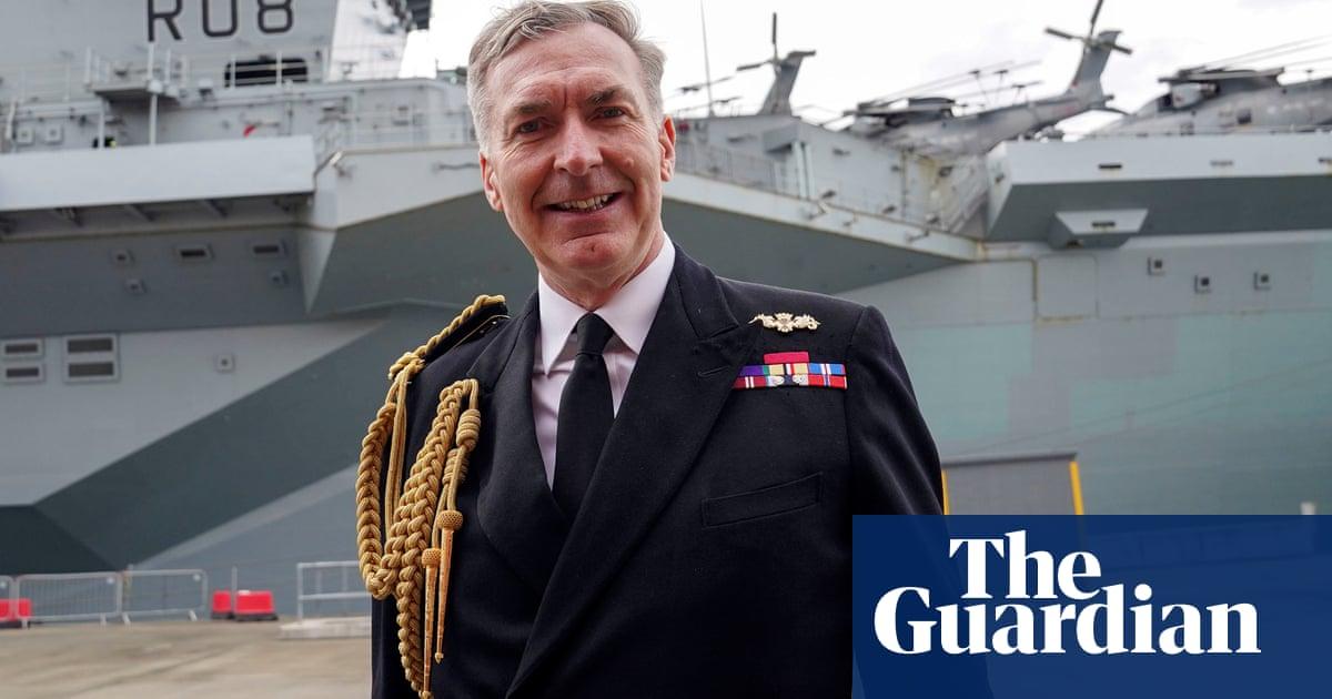 Boris Johnson picks navy chief as head of British armed forces