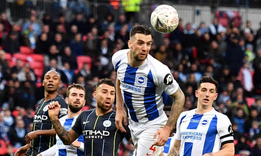 Shane Duffy, Brighton's player of the season, has urged his teammates to replicate their obstinate FA Cup semi-final display when they play City at the Amex.