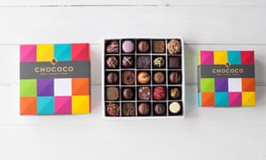 Clever box … twenty-five chocolates, hand-delivered, every 30 days, by Chococo