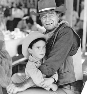 John Wayne with his young son Ethan.