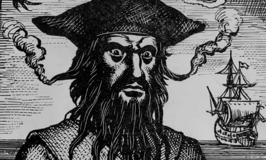 a contemporary image of Blackbeard.