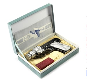 Obviously, there's no better way to avoid suspicion than to use a camera disguised as a gun. The Doryu 2-16 Gun Camera from Japan was made between 1954 and 1956.