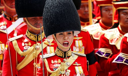 Sineenat Wongvajirapakdi pictured taking part in the royal cremation ceremony of Thailand's late king Bhumibol Adulyade in Bangkok in 2017