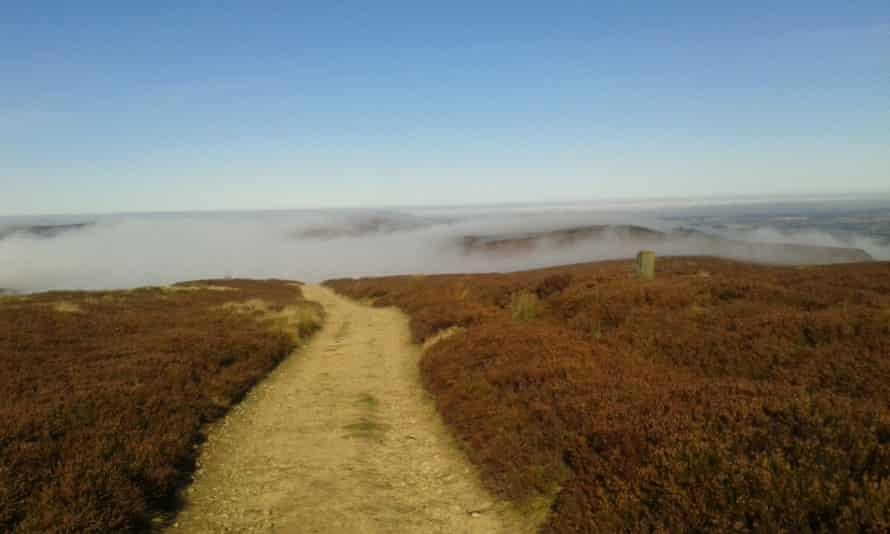 Swirling mists over Urra Moor