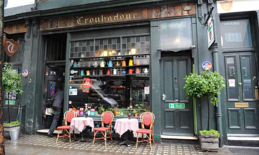The Troubadour club on Old Brompton Road, London is up for sale after the council said they couldn't use the garden after 9pm.