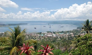Rabaul and Simpson Harbour on New Britain.
