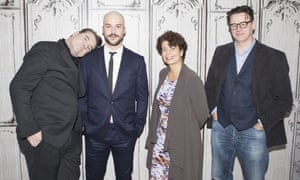 Brendan Coyle , Marc-Andre Grondin, producer Rola Bauer, and Ed McCardie discuss Spotless in New York.